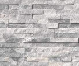 Silver Travertine Stacked Stone Finish Sample - Elegant Outdoor Kitchens of SWFL
