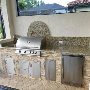 Arborwood Preserve Custom Outdoor Kitchen by Elegant Outdoor Kitchens of SWFL