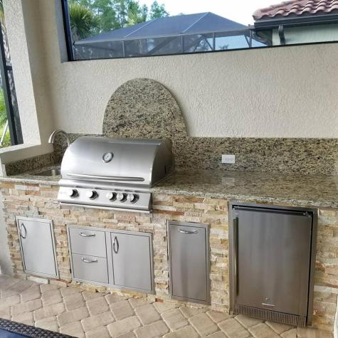 Arborwood Preserve Custom Outdoor Kitchen by Elegant Outdoor Kitchens of SWFL
