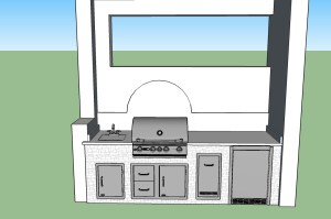 Arborwood Preserve Custom Outdoor Kitchen by Elegant Outdoor Kitchens CAD Design