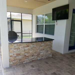 Camden Square - L-Shape Custom Outdoor Living Area with 4K HD TV