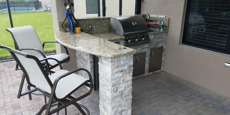 Elegant Outdoor Kitchens - Marina Bay Project - L-Shape Counter