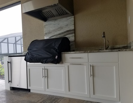 Florida Outdoor Kitchen - Simply Elegant - Straight Counter Design Part 2