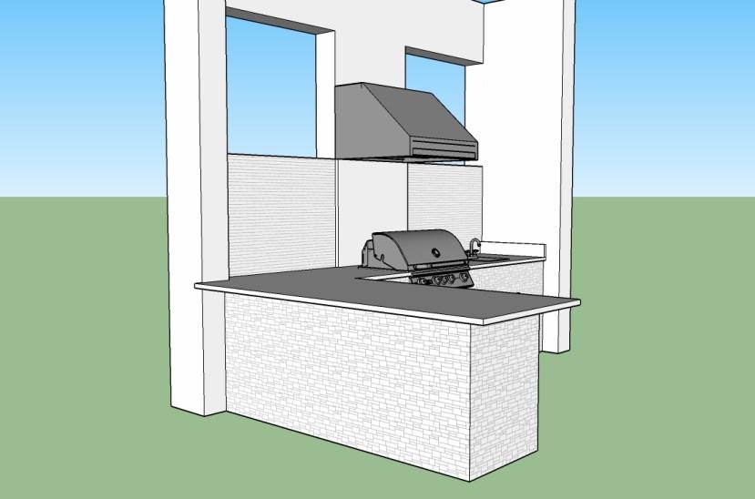 Outdoor Kitchen - CAD Design Photo