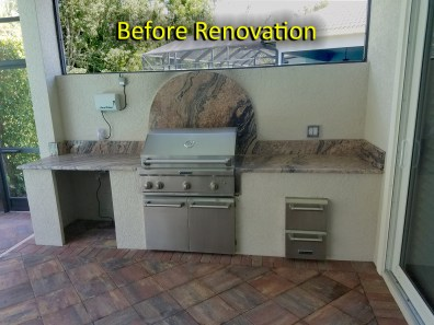 Outdoor Kitchen Renovation - Before Photo