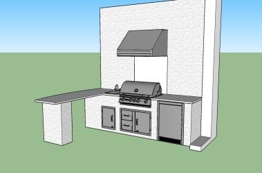 Cream Outdoor Kitchen by Elegant Outdoor Kitchens