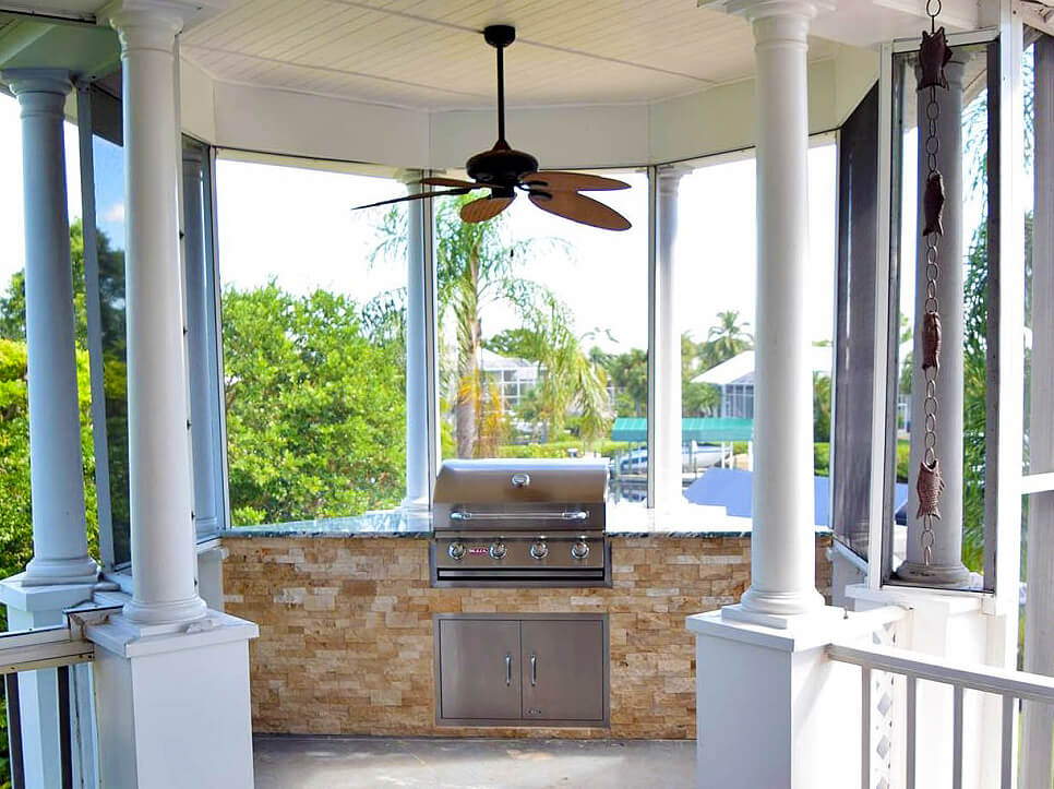 Outdoor Kitchen Gazebo by Elegant Outdoor Kitchens