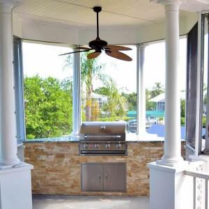Outdoor Kitchen Gazebo by Elegant Outdoor Kitchens
