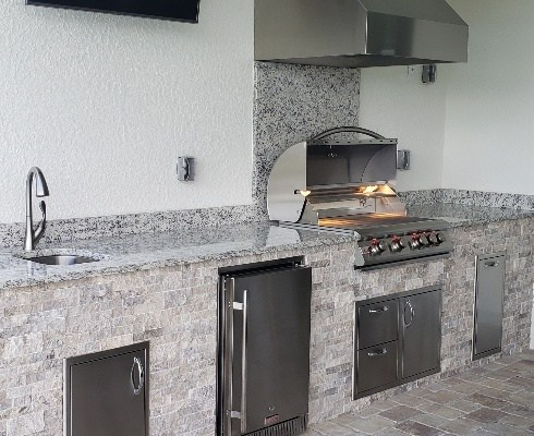 Branco Dallas Outdoor Kitchen by Elegant Outdoor Kitchens