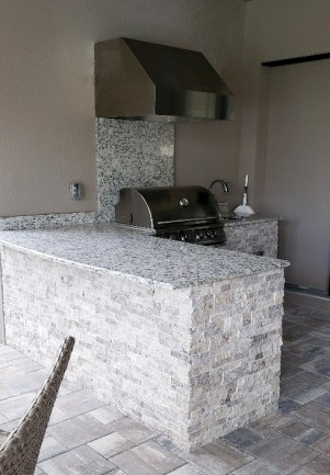 Taylor Morrison Home Kitchen Counter by Elegant Outdoor Kitchens