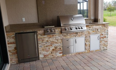 Prato Outdoor Kitchen by Elegant Outdoor Kitchens, Fort Myers, FL. - left side view