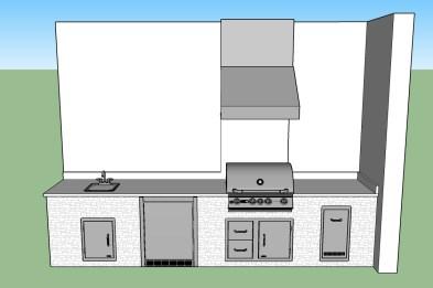 Branco Dallas Outdoor Kitchen CAD Design by Elegant Outdoor Kitchens