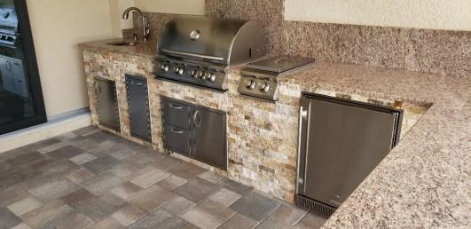 Outdoor kitchen Blaze grills