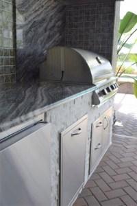 straight outdoor kitchen design