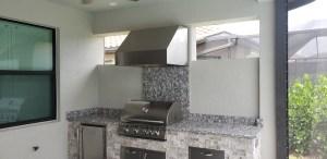 Upper Half of Custom Summer Kitchen - Showing the Trade-Wind hood