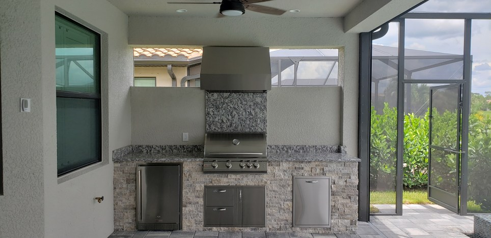 The BBQ Grill Smoke Outlet System by Elegant Outdoor Kitchens