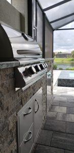 Custom Outdoor Kitchen Build - Southwest Florida Toll Brothers Home within Spanish Wells Community