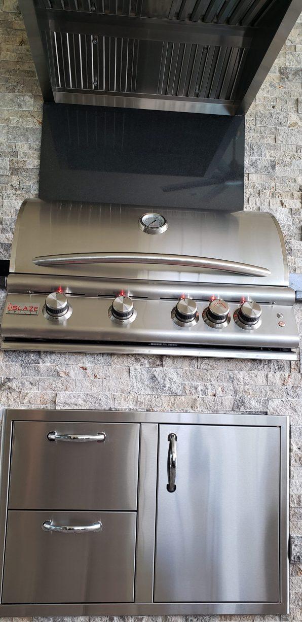 Brand-New Blaze Professional Grade Barbecue Grill and Combo Storage Unit