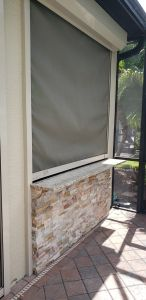 Sun Shade Screen - Elegant Outdoor Kitchens of SWFL