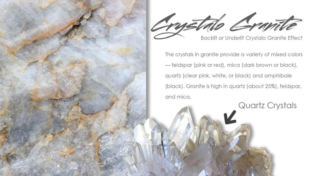 Crystalo Granite - 25% Quartz Crystal Content