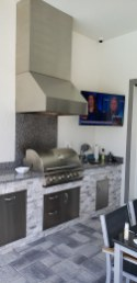 Custom Designed and Constructed Outdoor Kitchen by Elegant Outdoor Kitchens of Fort Myers, Florida