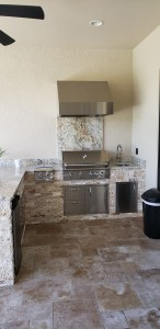 Custom Designed and Constructed Outdoor Kitchen - Elegant Outdoor Kitchens of Fort Myers, Florida