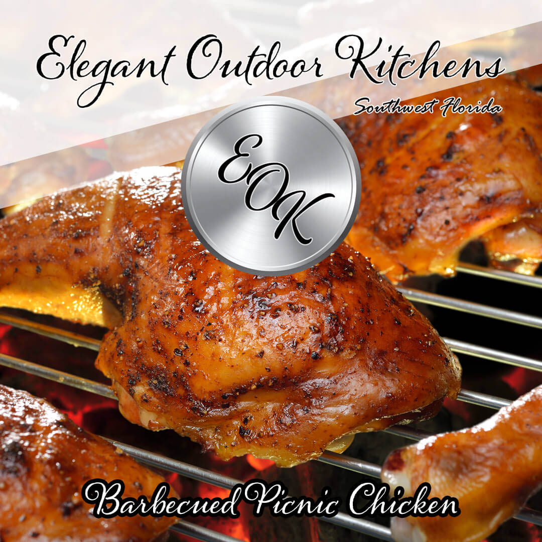 Barbecued Picnic Chicken Recipe - Courtesy of TasteOfHome.com