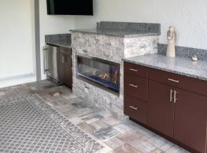 Elegant Outdoor Kitchens Custom Outdoor Fireplace Project