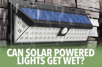 Solar powered light on rain, so how to waterproof outdoor lights