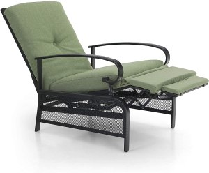 Recliner chair will be using to demonstrate how to fix an outdoor recliner chair that won't close