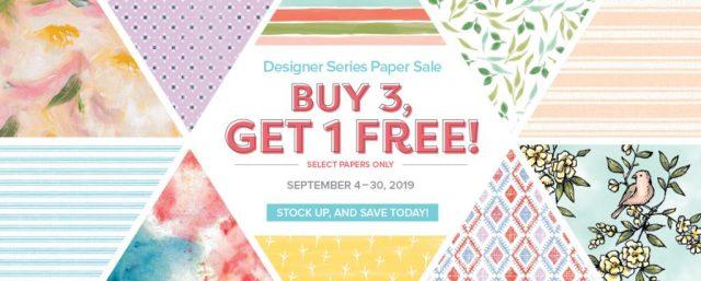 Buy 3 Get 1 Free Stampin Up Designer Series Paper