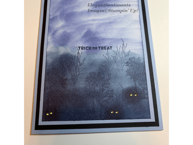 Eerie Forest Halloween Card Using Stampin Up produtcs
