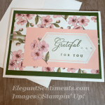 Thank you cards with pink flowers made with Stampin Up products