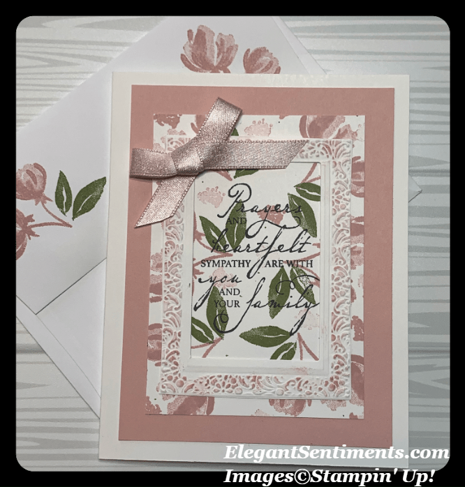 Sympathy Card and envelope made with Stampin Up products