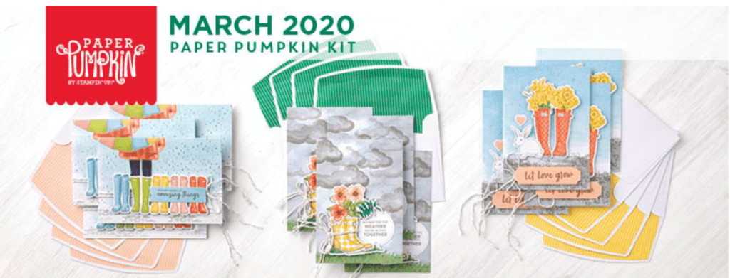 March 2020 Paper Pumpkin Cards by Stampin' Up!