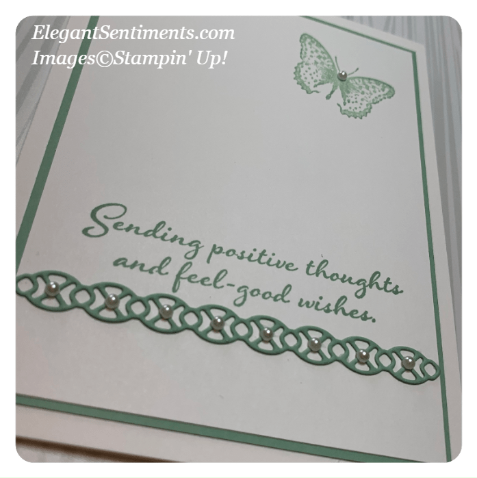 Close Up of a greeting card made with Stampin' Up! products