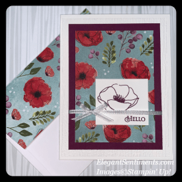 Hello Greeting Card Featuring Stampin' Up! Products