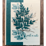 Just a Note greeting card featuring Stampin