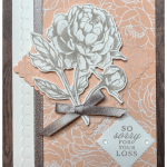 Sympathy card made with Stampin
