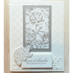 Thank You card made with products from Stampin