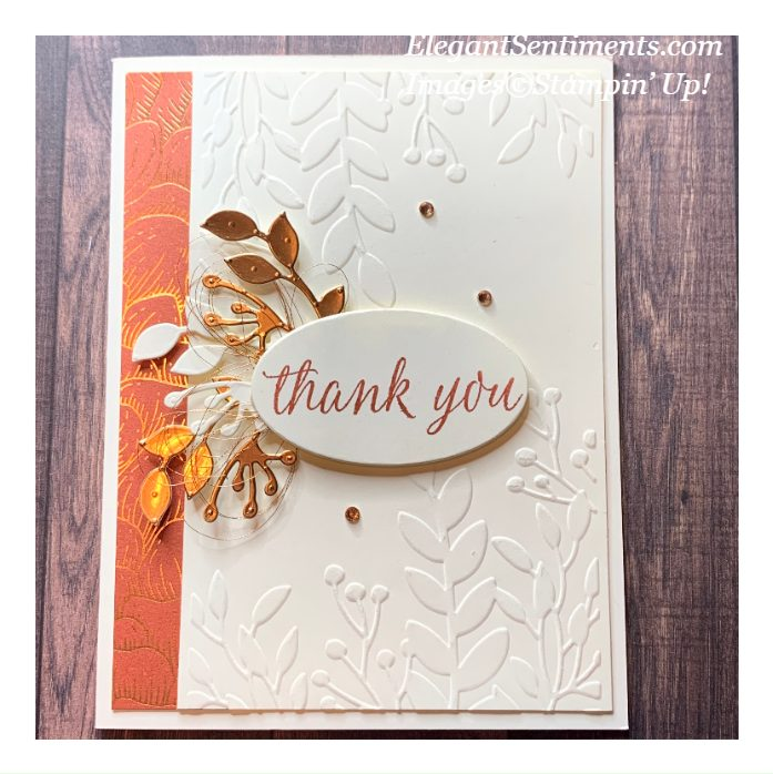 Autumn Leaves Thank You card made with Stampin' Up! products