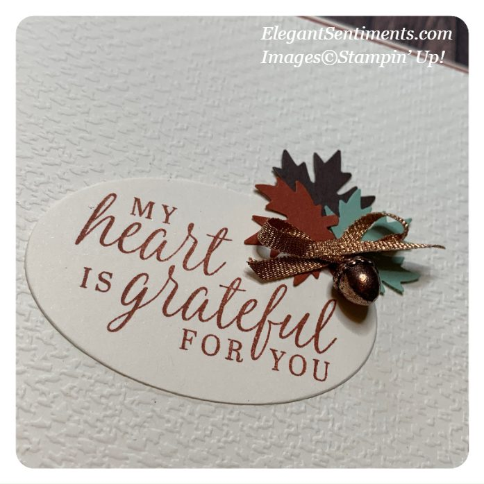 Close up of Thank You Card made with Stampin' Up! products