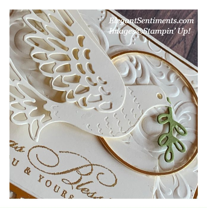 close up of a Christmas card made withStampin' Up! products