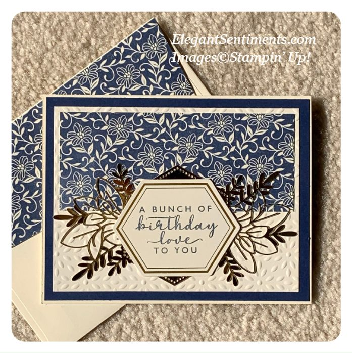 Birthday card and coordinating envelope made with Stampin' Up! products
