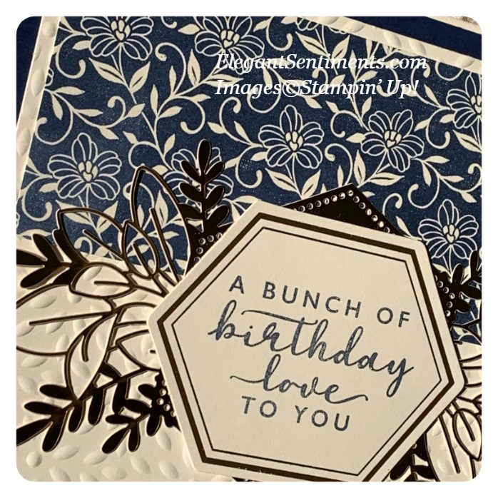 a close up of a birthday card made with Stampin' Up! products