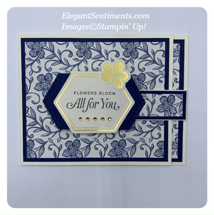 Thinking of you lever card made with Stampin' Up! products
