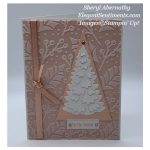Christmas card in Petal Pink made with Stampin