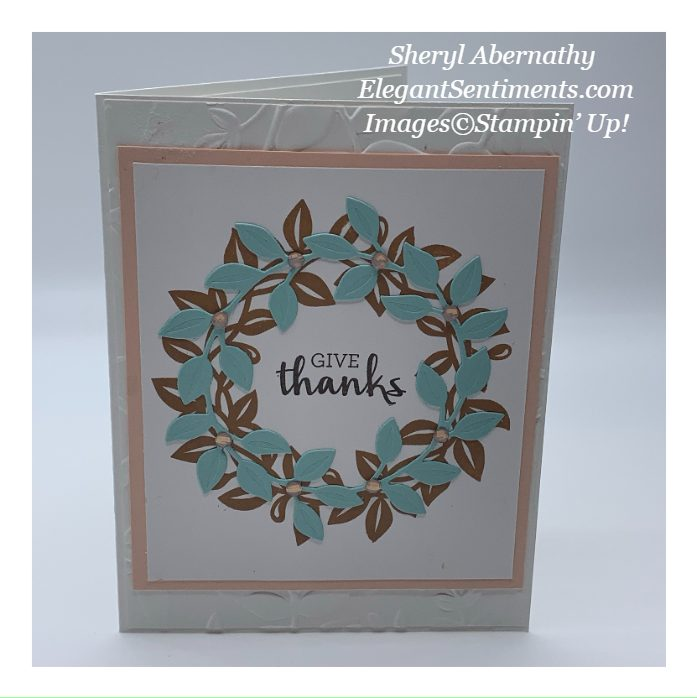Thanksgiving card made with Stampin' Up! products