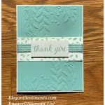Thank you card made with Stampin