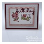Floral birthday card made with Stampin